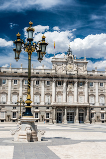 Spanish royal palace in Madrid, Spain