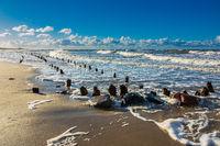 Die Ostseeküste bei Kühlungsborn an einem stürmischen Tag