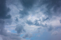 Sky with rain clouds