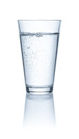 Glass with cold water