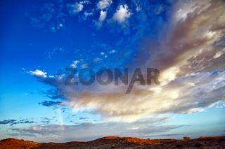 Sturm und Regen ziehen auf, Kgalagadi-Transfrontier-Nationalpark, Südafrika   Storm is coming, Kgalagadi Transfrontier National Park, South Africa