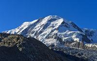 Gipfel Liskamm, links die Monte-Rosa-Hütte, Zermatt, Wallis, Schweiz