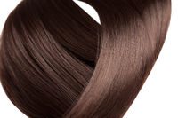 Closeup on luxurious straight glossy hair