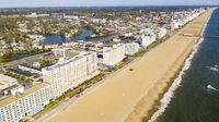 Nobody out on the Beach along the Atlantic near Ocean City Maryland