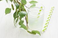 Glass birch juice