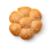 Top view of sweet bun with sesame seeds