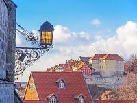 Quedlinburg, Blick auf den Münzenberg