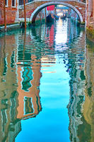 Venice in water reflections