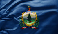 Waving state flag of Vermont - United States of America