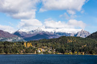 Autumn Colors in Nahuel Huapi lake, Patagonia - Argentina, near Bariloche