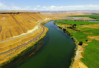 The Snake River Meanders across Idaho at Glenns Ferry