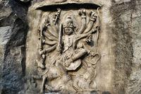 Mahishasur Mardini, Hadshi Temple, Sant Darshan Museum near tikona Vadgoan Maval, District Pune, Maharashtra, India