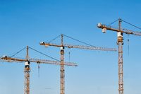 Tall Construction Cranes