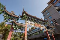 Chinese traditional gate in Chengdu, China
