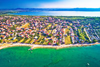 Adriatic sea and Vransko lake aerial view