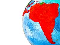Latin America on 3D Earth