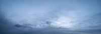 Evening twilight cloudy sky