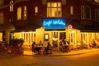 People street restaurant night Copenhagen