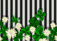 Striped clover background