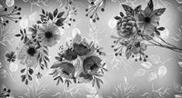Flowers in vintage style, black and white image.
