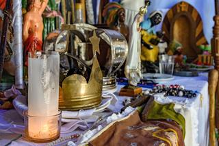Brazilian religious altar detail