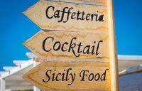 Sicily Food sign
