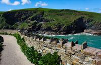 historische Mauer  - II - Tintagel - Cornwall - England