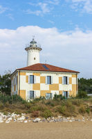 Lighthouse on the Adriatic riviera