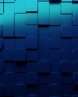 Metallic blue cubes background