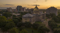 The Capital Statehouse in Downtown Jackson Mississippi at Dusk