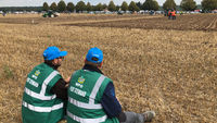 Plot Stewards waiting alongside the World Ploughing Competition in Germany 2018