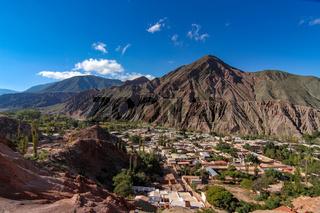 Landscape view of a little village of Salta, Argentina
