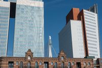 Classical and modern architecture in Rotterdam Netherlands