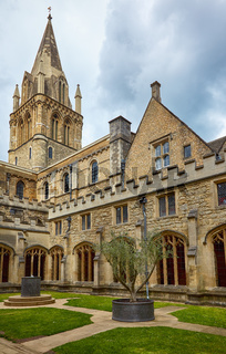 The crossing tower of Christ Church Cathedral. Oxford University. England