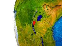 Burundi on 3D Earth