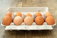 Eight free range chicken eggs