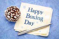 Happy Boxing Day napkin note