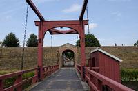 Festung Bourtange-Muenstersches Tor und Zugbruecke