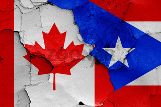 flags of Canada and Puerto Rico