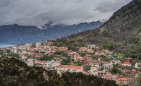 Hillside homes in Kotor