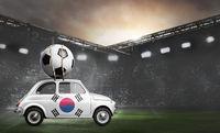 Korea car on football stadium