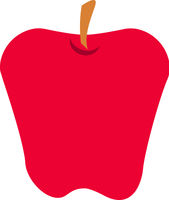 Red Apple Fruit Vector Isolated