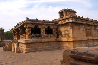 Lad Khan temple, Aihole, Bagalkot, Karnataka. Kontigudi group of temples. This is the oldest temple of Aihole.