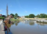 im Innenhafen von Toenning,Nordfriesland,Schleswig-Holstein,Deutschland