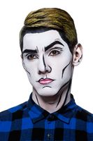young man with popart body paint