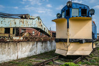 Old disused snow plough train