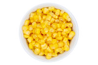 Mais Körner Maiskörner von oben isoliert freigestellt Freisteller