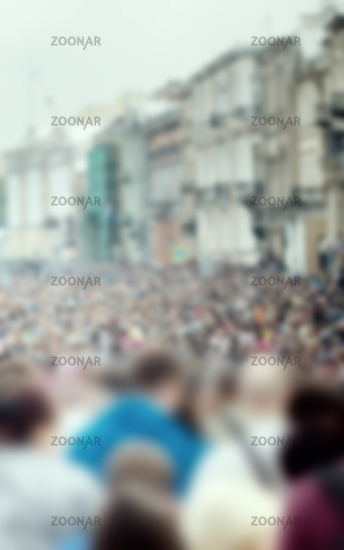 crowds of people on a city holiday