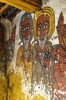 Portraits von Abba Samual und Abuna Kiros, Felsenkirche Petros and Paulos Melehayzengi, Äthiopien