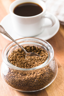 The instant coffee.